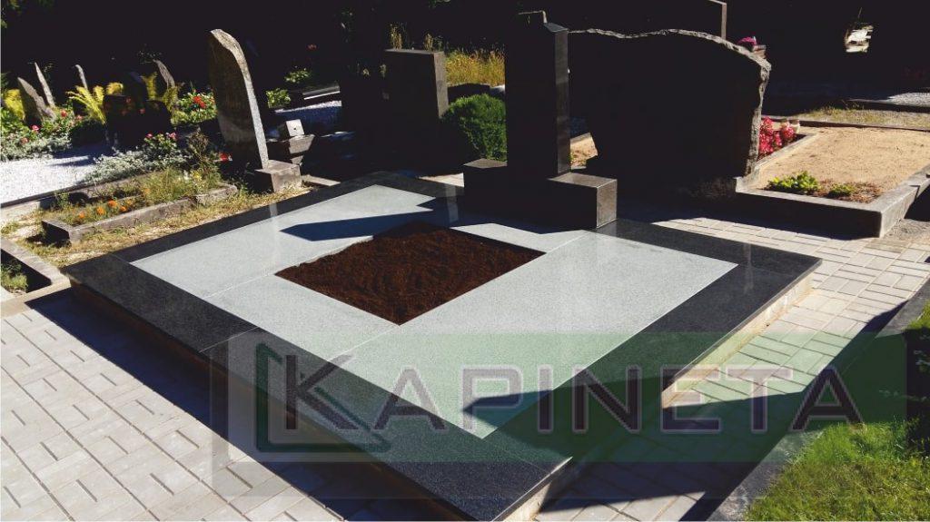 Kapavietės dengimas akmens plokštėmis