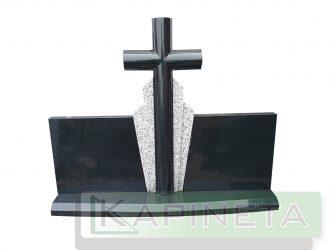 Juodas paminklas su kryžiumi