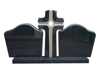 Kareliško Gabro Diabaz granito paminklas 0,5×0,6 m, 0,35×0,8 m, 015x m