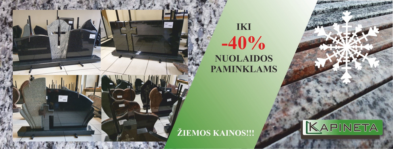 NUOLAIDOS PAMINKLAMS IKI 40%