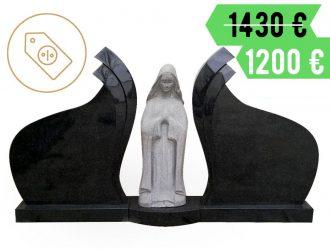Kareliško granito paminklas su Marijos skulptūra