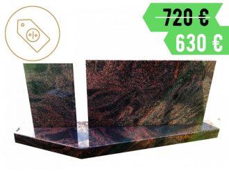 Suomiško Aurora granito dviejų dalių paminklas su pjedestalu