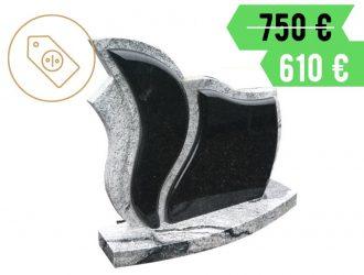 Indiško Viscont White ir kareliško Gabro Diabaz granito dviejų dalių paminklas su pjedestalu