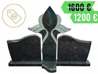 Trijų dalių kareliškas Gabro Diabaz granito paminklas su pjedestalu