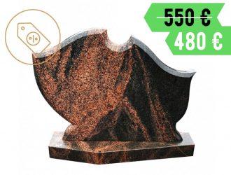 Suomiško Aurora granito paminklas su pjedestalu
